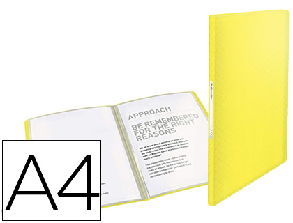 Carpeta 40 fundas Esselte Colour Ice A4 PP amarillo