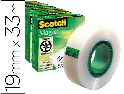 6 cintas adhesivas Scotch Magic 33m.x19 mm.