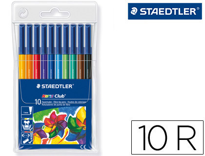 10 rotuladores Staedtler Noris Club