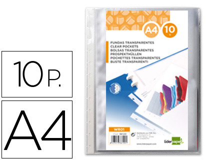 10 fundas intercambiables Liderpapel Din A-4