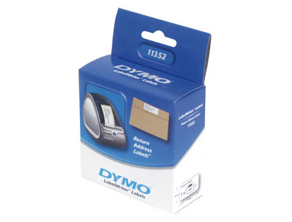 500 etiquetas Dymo remite 25x54 mm.