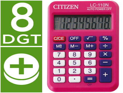 Calculadora Citizen LC-110  bolsillo rosa