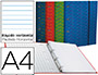Carpeta Liderpapel A-4 4 anillas 20 mm. con recambio horizontal