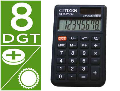 Calculadora Citizen bolsillo SLD-200N