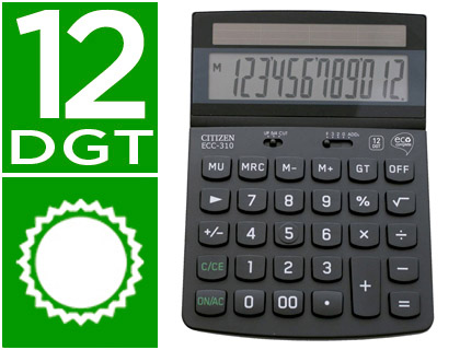 Calculadora Citizen sobremesa eco ECC-310