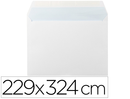 25 sobres Liderpapel 229x324mm. offset blanco 90g/m²