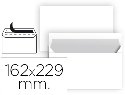 25 sobres Liderpapel 162x229mm. offset blanco 90g/m²