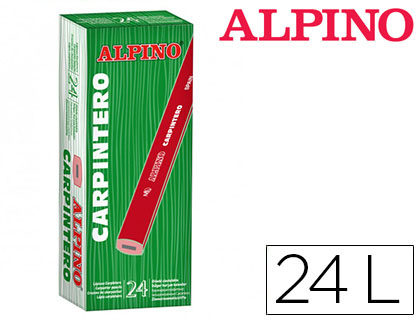 24 lápices Alpino carpintero