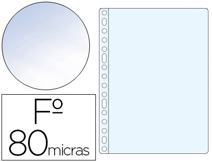 100 fundas multitaladro Esselte Folio polipropileno 80µ cristal