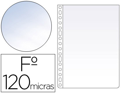 100 fundas multitaladro Esselte Folio polipropileno cristal 120µ