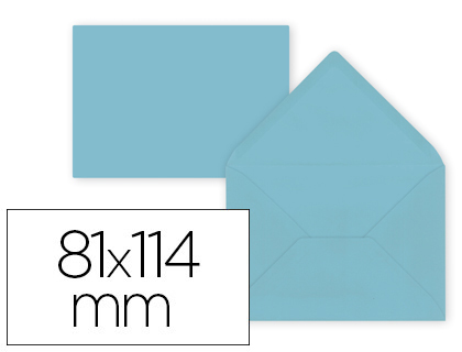 12 sobres Liderpapel 81x114mm. offset 80g/m² color celeste