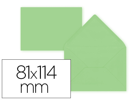 12 sobres Liderpapel 81x114mm. offset 80g/m² color verde