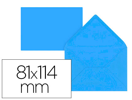 12 sobres Liderpapel 81x114mm. offset 80g/m² color azul