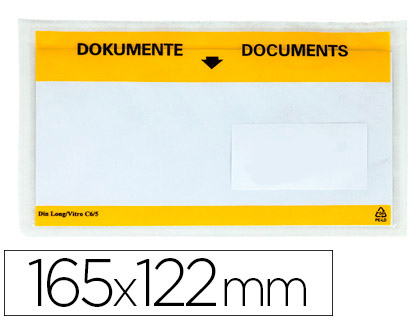 100 sobres autoadhesivos Q-Connect portadocumentos 165x122 mm.