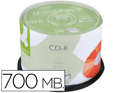 50 CD-R Q-Connect imprimibles 700MB 52x 80 minutos