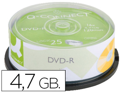 25 DVD-R Q-Connect imprimibles 4.7GB 16x 120 minutos