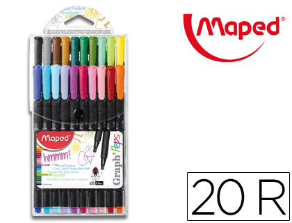 20 rotuladores Maped graph'peps colores surtidos