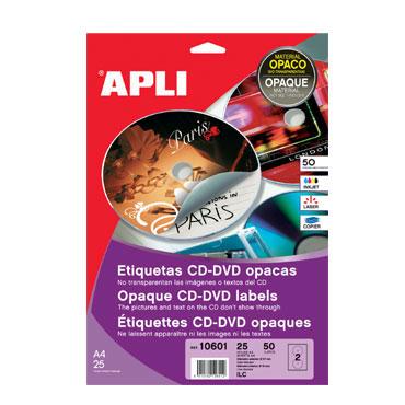 Etiqueta CD MEGA ø117 /18 mm. 100HJ Din A-4 (100U) Apli