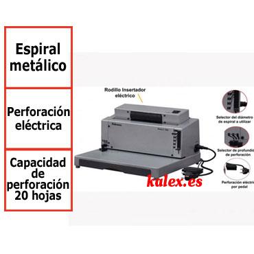 Encuadernadora eléctrica Fellowes Metal E200R para espiral metálico