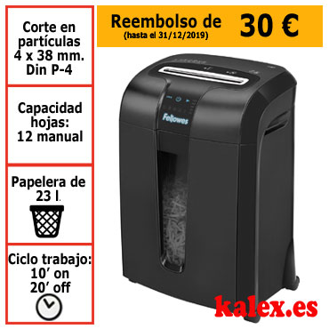 Destructora de papel Fellowes 73Ci para uso profesional