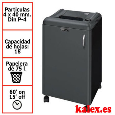 Destructora papel Fellowes 2250C departamental uso continuo &4616101