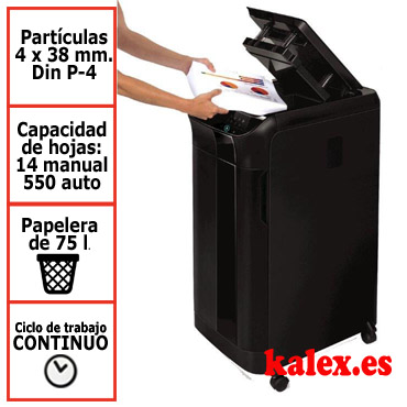 Destructora de papel automática Fellowes Automax 550C