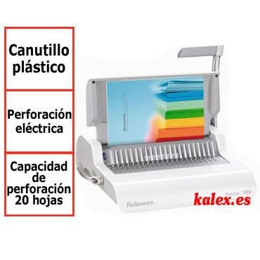 Encuadernadora Fellowes Pulsar E eléctrica para canutillo de plástico