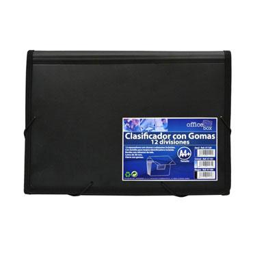 Clasificador con goma Din A-4 negro Office Box 41169