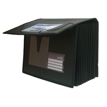 Organizador fuelle PP Din A-4 negro Office Box 41667