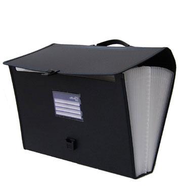 Maletín clasificador PP Din A-4 negro Office Box 42469