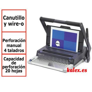 Encuadernadora GBC MultiBind 320 para canutillo de plástico, wire-o y 4 taladros
