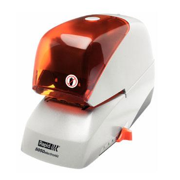 Grapadora eléctrica Rapid 5050e 50 hojas color plata/naranja