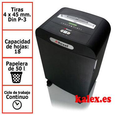 Destructora Rexel Mercury RDX1850 para uso departamental