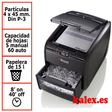 Destructora de papel Rexel Auto+ 60X automática