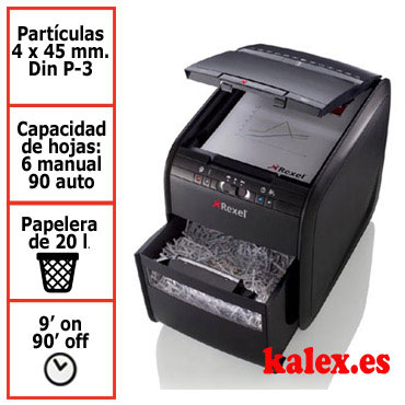 Destructora de papel Rexel Auto+ 90X automática