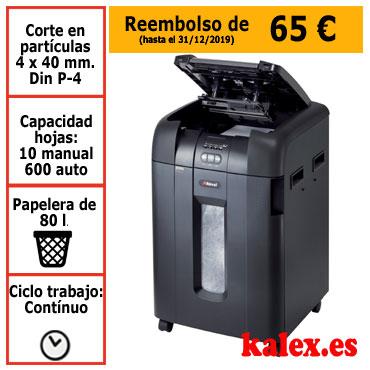 Destructora de papel automática Rexel Auto+ 600X