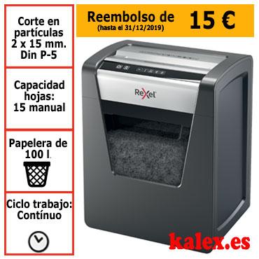 Destructora papel Rexel Momentum M510 microcorte uso frecuente &2104575EU