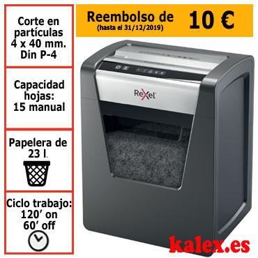 Destructora papel Rexel Momentum X415 uso profesional &2104576EU