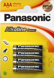 4 pilas alcalinas LR03/AAA Panasonic