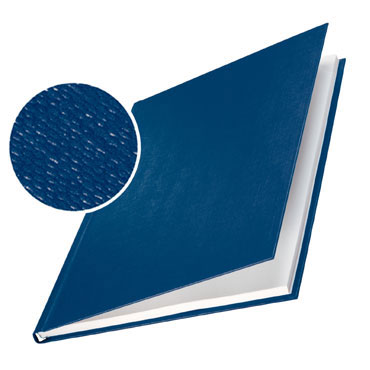 10 tapas ImpressBind rígidas gofrado lino azul G Leitz &73970035