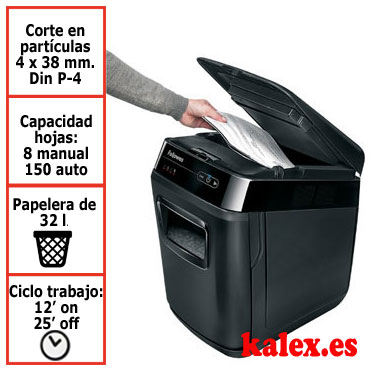 Destructora papel Fellowes automática Automax 150C