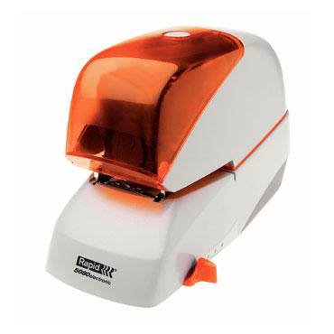 Grapadora eléctrica Rapid 5080e 80h plata/naranja