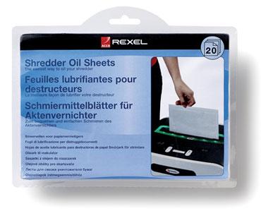 Pack de 20 hojas lubricantes Rexel