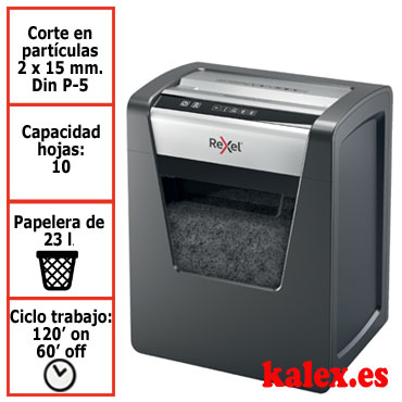 Destructora papel Rexel Momentum M510 microcorte