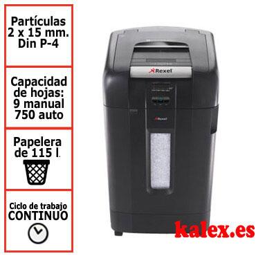 Destructora automática Rexel Auto+ 750M microcorte