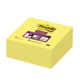 Cubo 270 notas Post-it amarillas 76x76 mm. Super Sticky A75589