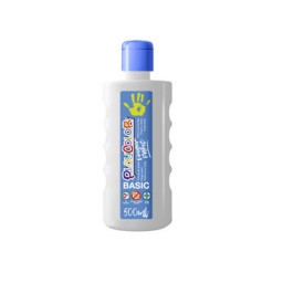 Bote 500 ml. pintura de dedos blanco Playcolor 17701