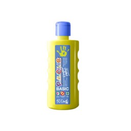 Bote 500 ml. pintura de dedos amarillo Playcolor 17711
