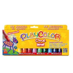12 barras témpera 10 g. instant Playcolor A74073