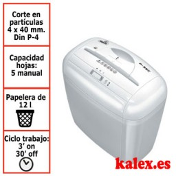 Destructora papel Fellowes P-35C blanca uso moderado &3333501